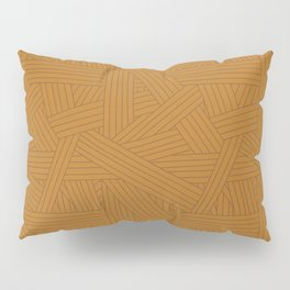 Crossing Lines in Warm Brown Pillow Sham