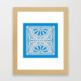 Fiesta de Flores in Party Blue Framed Art Print