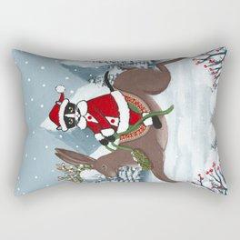 Santa Claws and the Jackalope Rectangular Pillow