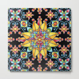 Sunshine Arabesque Metal Print
