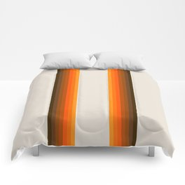 Retro Golden Rainbow - Straight Comforters