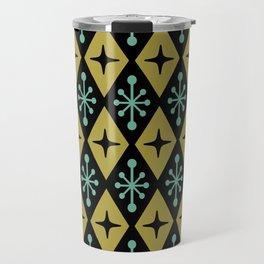 Mid Century Modern Atomic Triangle Pattern 110 Travel Mug