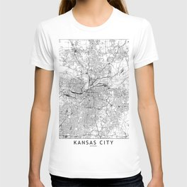 Kansas City White Map T-shirt