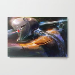 Grey Fox Metal Print