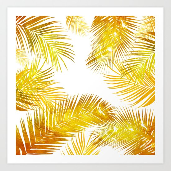 natural gold, tropical Art Print