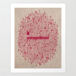 Ghibli Pattern Poster Project / Spirited Away  Art Print