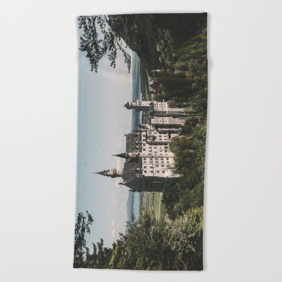 Neuschwanstein fairytale Castle - Landscape Photography Beach Towel