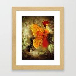 Female butterfy Framed Art Print
