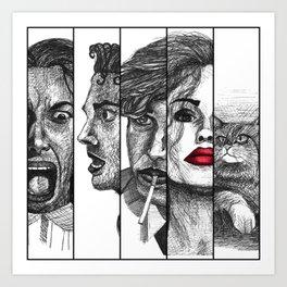 Film Noir Collage Art Print