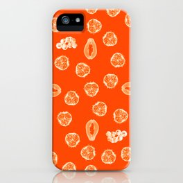 Kiwano, Papaya & Gooseberry [Orange] • Mandala iPhone Case
