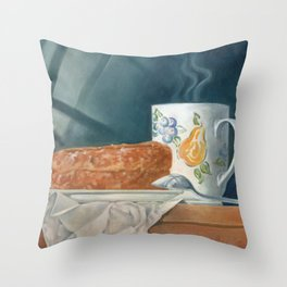 Breakfast of Champions (donut and coffee) Throw Pillow