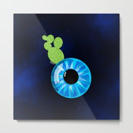 Cactus Eyeball Metal Print