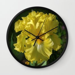 Golden Iris flower - 'Power of One' Wall Clock