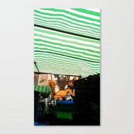 Market cat Canvas Print