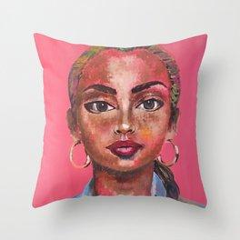 SadeAdu Throw Pillow
