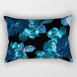 Flora temptation - moonlit blue Rectangular Pillow