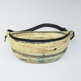 Yellow Planks, Wood Texture Decor Fanny Pack