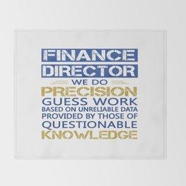 FINANCE DIRECTOR Throw Blanket