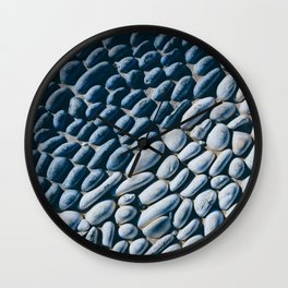 Black and White Pebble Wall Clock