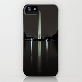 Washington Monument at Night iPhone Case