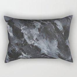 White Ink on Black Background #3 Rectangular Pillow