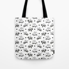 Flying Pigs | Black and White Tote Bag