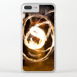 Fire in the hands Clear iPhone Case