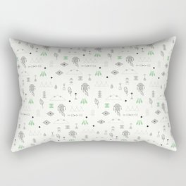 Seamless pattern with native American symbols Rectangular Pillow