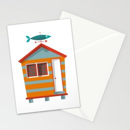 Beach Hut Number Two Stationery Cards