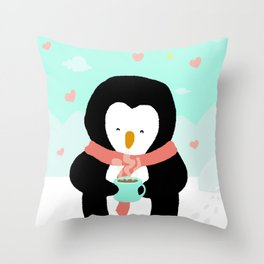 Lovely Penguin Throw Pillow