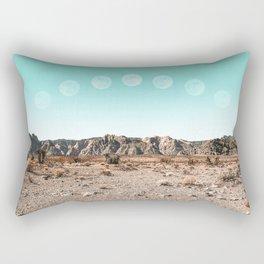Desert Daylight Moon Ridge // Summer Lunar Landscape Teal Sky Red Rock Canyon Rock Climbing Photo Rectangular Pillow