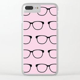 Hipster Eyeglasses Clear iPhone Case