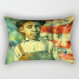 Face of Greatness Rectangular Pillow
