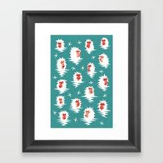 Bathing Japanese snow monkeys Framed Art Print