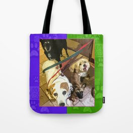 Roz, Buster, Peppy and Jamie Tote Bag
