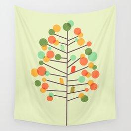 Happy Tree - Tweet Tweet Wall Tapestry