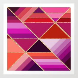 Abstract triangles 0726 Art Print