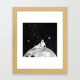 The greatest moon. Framed Art Print