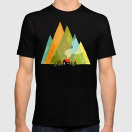 House at the foot of the mountains T-shirt