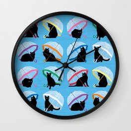 raining cats 'n cats Wall Clock