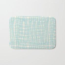 Blue Scribbles Pattern 06 Bath Mat