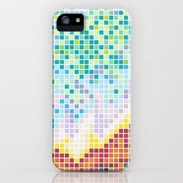 Pixelated Nebula Red iPhone Case