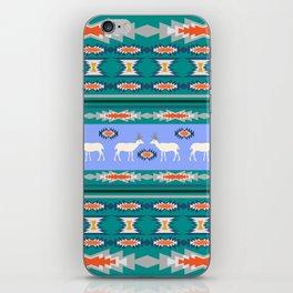 Decorative Christmas pattern with deer II iPhone Skin