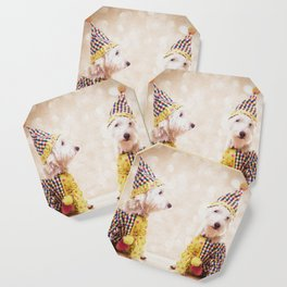 Circus Clown Dogs Coaster