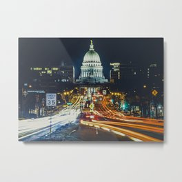 Wisconsin and Washington Metal Print