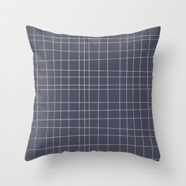 Charcoal Grid Throw Pillow
