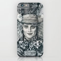 Mad Hatter - Johnny Depp Traditional Portrait Print iPhone 6s Slim Case