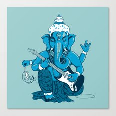 Ganesha rocks ! (v3) Canvas Print