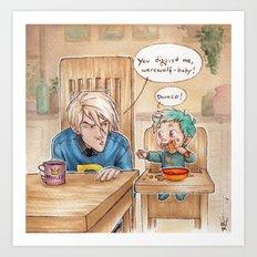 Draco and Teddy Art Print
