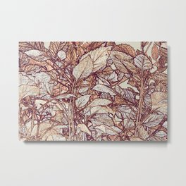 abstract camouflage leaves Metal Print